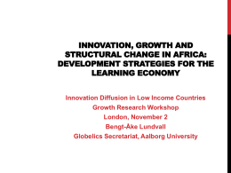 Innovation, growth and structural change in Africa