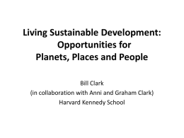 Living Sustainable Development