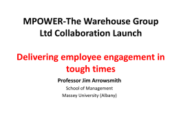 Employee Engagement - Jim Arrowsmith
