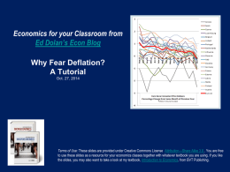 Ed Dolan, Eurozone Deflation, October 2014