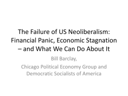 The Failure of US Neoliberalism - DuPage Peace Through Justice