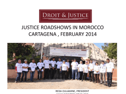the justice roadshows morocco, 201