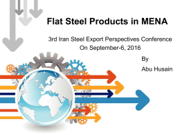 flat products in the middle east region
