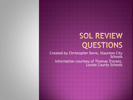 SOL Review Questionsx