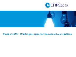 DNR Capital Client Presentation October 2015