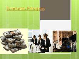 Economic Principles and Systems