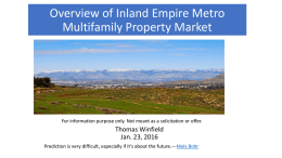 Inland Empire is in the Expansion Phase