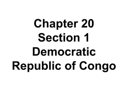 Chapter 19 Section 1 Democratic Republic of Congo