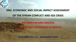 krg: economic and social impact assessment of the syrian conflict