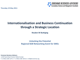 Malta - Regional B2B Networking Event for SMEs