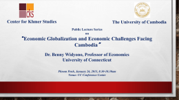 Economic Globalization and cambodia