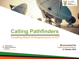 Funding Black Entreprenuers in ICT Funding Black Entreprenuers in