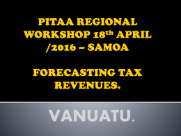 PITAA REGIONAL WORKSHOP 11/2015 * FORECASTING TAX