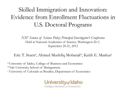 Evidence from Enrollment Fluctuations in US Doctoral Programs