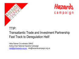 Hazards Campaign on TTIP Nov 2015