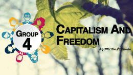 Ppt Presentation on Capitalism and Freedomx