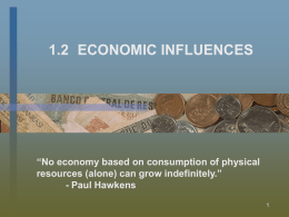 1.2 Economic Influences