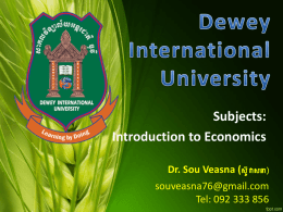 - Research - Dewey International University