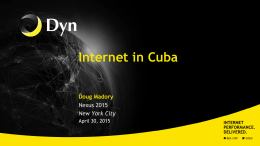 Current Internet Layout in Cuba