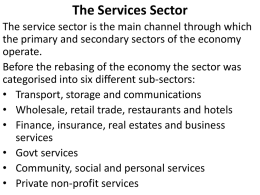 The Services Sector