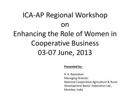ICA-AP Regional Workshop on Enhancing the Role of Women in
