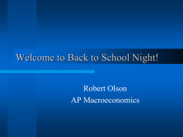 Back to School Night information for parents - macrolson