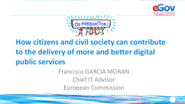 Coproduction: How citizens and civil society can contribute to the