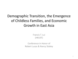 Demographic Transition, the Emergence of Childless Families, and