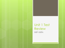 Unit 1 Test Review - creamerhistory.com