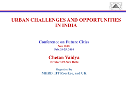 sustainable urban form for india