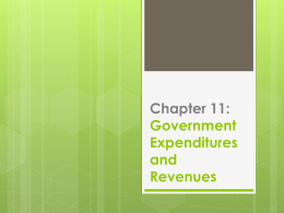 Government Expenditures and Revenues