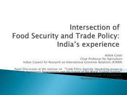 Intersection of Food Security and Trade Policy