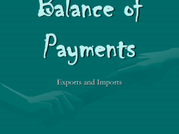 Current Account Balance of Payments