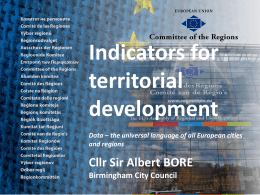the universal language of all European cities and regions Sir Albert