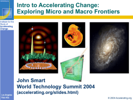 Intro to Accelerating Change - Acceleration Studies Foundation