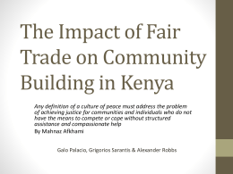 The impact of fair trade in community building in Kenya