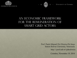 An economic framework for the remuneration of smart grid actors