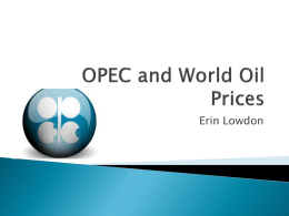 OPEC and World Oil Prices