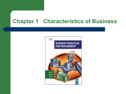 Ch 1 PPT - Complete - Characteristics of Business
