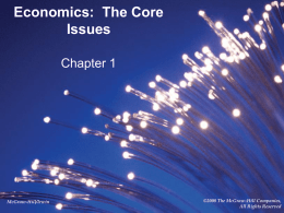 Economics: The Core Issues