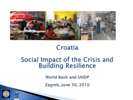 Croatia Social Impact of the Crisis and Building