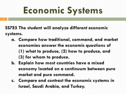 Info for 5 W`s Notes Economic Systems- Student Copy