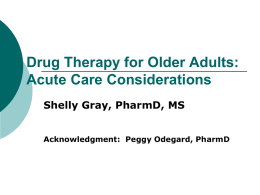 Drug Therapy for Older Adults