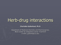Herb-drug interactions