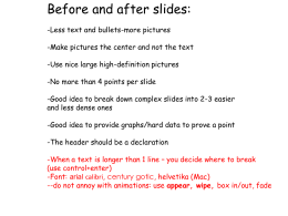 Nir`s Before and After powerpoint slides