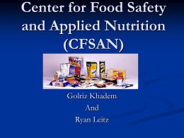 Center for Food Safety and Applied Nutrition