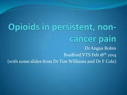 Opioids in chronic, non-cancer pain