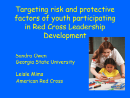 Targeting risk and protective factors of youth