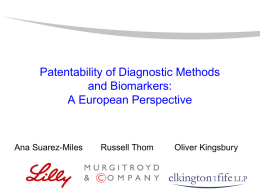 Patentability of Diagnostic Methods and Biomarkers