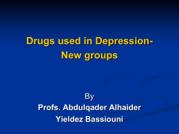 8-Drugs used in Depression-new groups 1436
